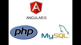 AngularJS Insert, Select, Delete, Update From Database-  PHP, MySql Tutorial Part 1