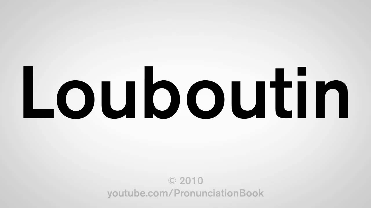 christian louboutin pronunciation audio