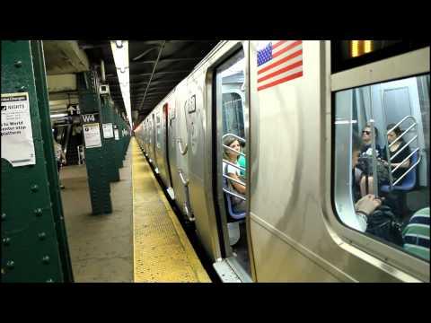 IND Subway Action: (A) (B) (C) (D) (E) (F) (M) at West 4th Street (R32 / R46 / R68 / R160)