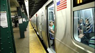 IND Subway Action: (A) (B) (C) (D) (E) (F) (M) at West 4th Street (R32 / R46 / R68 / R160)