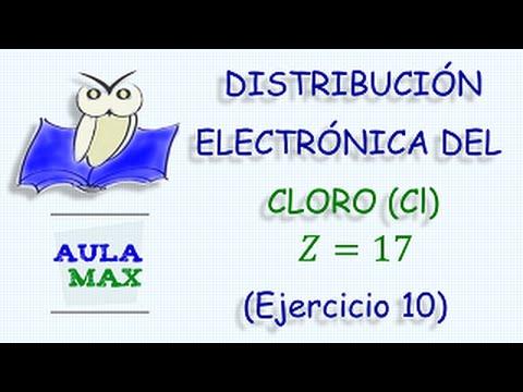 Distribución Electrónica Del Cloro Ejercicio 10 Youtube