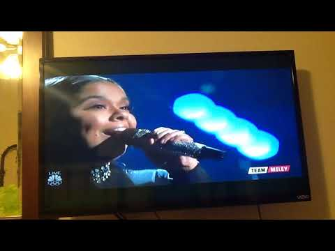 Brooke Simpson - Performance - Amazing Grace- The Voice , Dec 4, 2017.