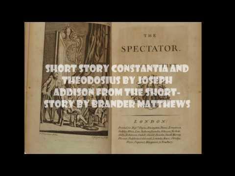 Short Story Constantia and Theodosius By Joseph Addison