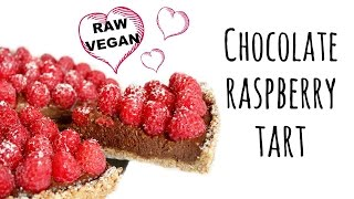 Chocolate Raspberry Tart | Raw Vegan