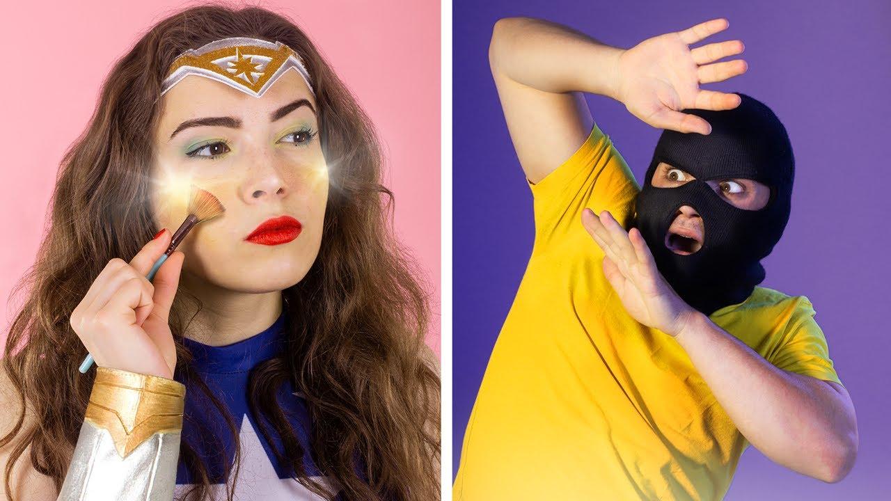 Download 8 DIY Seltsame Make-up-Ideen - Superhelden-Make-up
