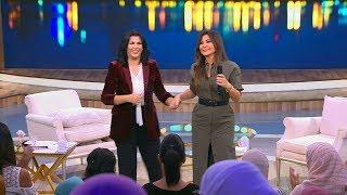 استقبال أسطوري للفنانة إليسا من جمهور معكم منى الشاذلي بعد انتصارها على السرطان