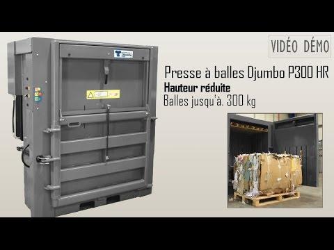 Presse à balles 300 kg - Hauteur réduite - DJUMBO PRESSE - www.djumbo-presse.com
