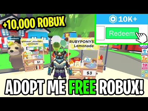 ITS BLOX- How to make 10,000  FREE  Robux Playing Roblox adopt me! 2021 UPDATE thumbnail