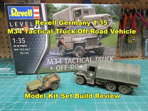 Revell Germany 1/35 M34 Tactical Truck/Off Road Vehicle Model Kit Review Build 03260