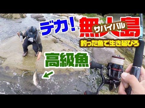 【無人島2泊3日】釣った魚で生き延びろ‼#3