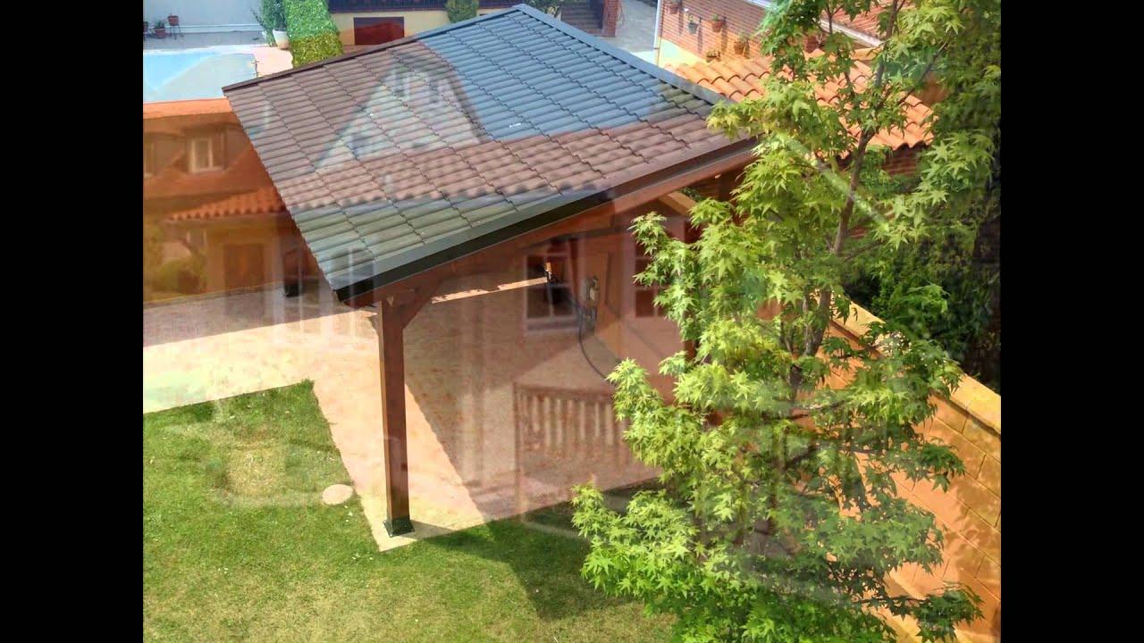Tejado barato ligero y resistente para p rgola de madera - Material para tejados ...