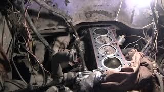ГАЗЕЛЬ с двигателем ВАЗ 15часть (разборка двигателя для проверки тех. состояния).