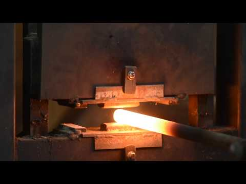 Drawing Out Steel for a Blade on a Hydraulic Forge Press