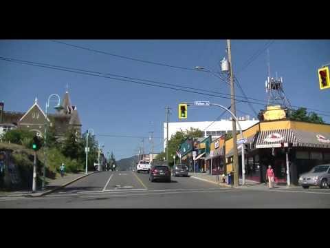 Driving in Nanaimo BC Canada - Drive on Vancouver Island British Columbia 2016 Tour Visit