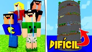 Minecraft: 4 NOOBS vs PARKOUR IMPOSSÍVEL!
