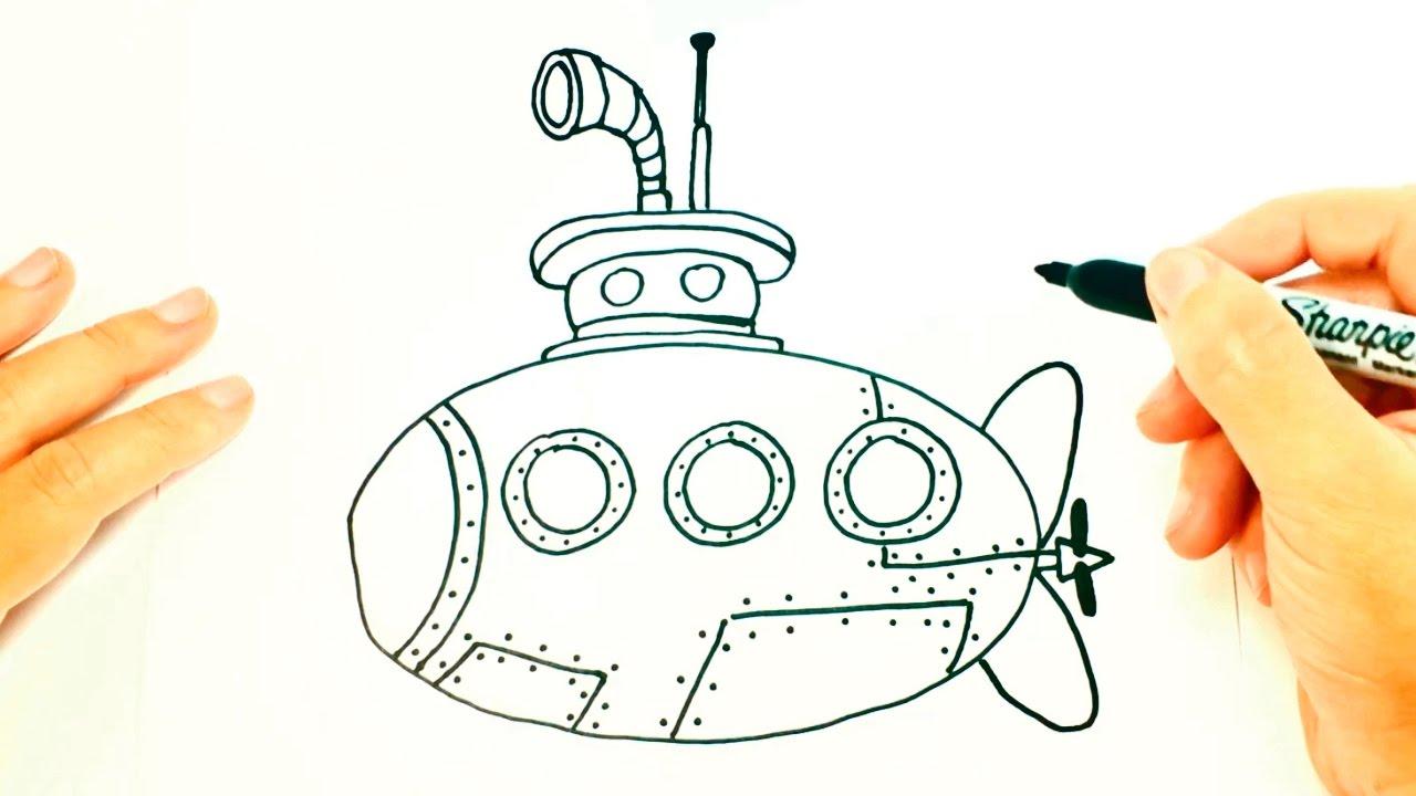 C mo dibujar un submarino paso a paso dibujo f cil de for Como disenar un jardin paso a paso