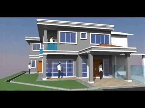 Rekabentuk Rumah Teres 2 Tingkat Lot Tepi Moden