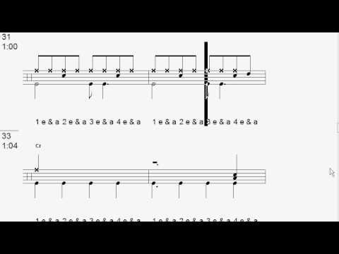 Drum tab for 21 Guns  Greenday