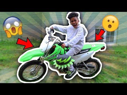Eli's First Time Riding a Dirt Bike | Eli's Fun World
