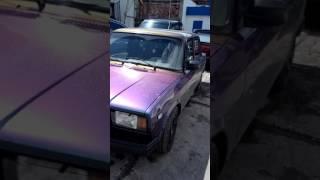 Обзор машины Ваз 2107 хамелеон от Rubber paint. В живую очень необычно смотрится. Выделяйтесь. ✌️😁