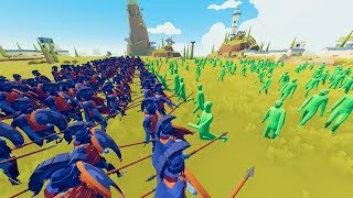 Can 300 Spartans stop the Zombie Plague in TABS? - Totally Accurate Battle Simulator Mods
