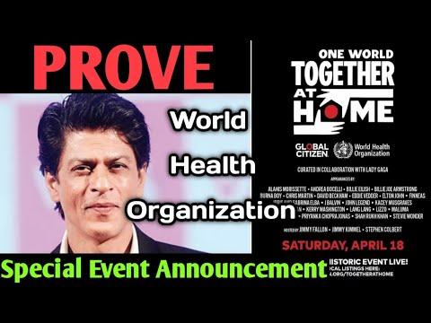 Prove Of World Health Organization Special Event Official Annou... L Shahrukh Khan & Priyanka