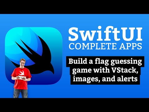 SwiftUI Tutorial: Build a flag guessing game with VStack, images, and alerts – Complete Apps #2 thumbnail