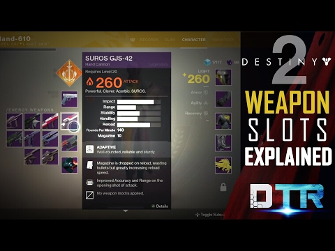 Destiny 2: Weapon Slots Explained