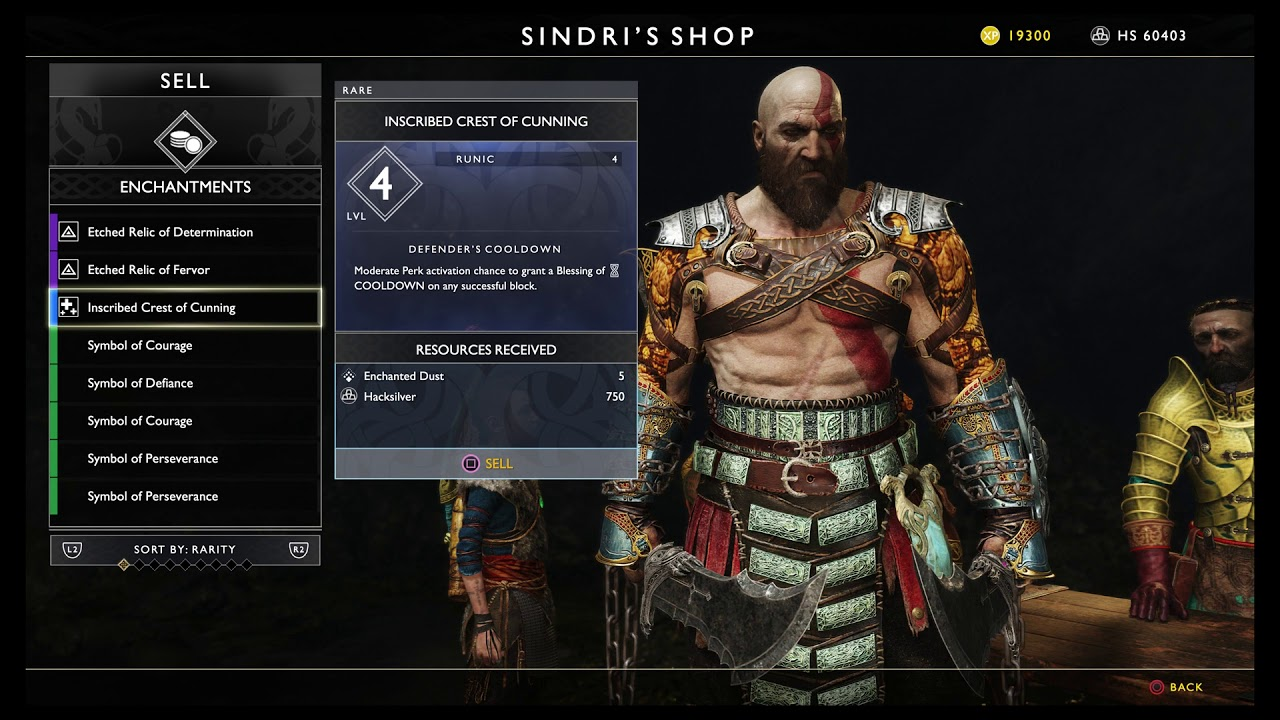 God Of War Sinmara S Cinder Legendary Runic Vestment Armor For Atreus Crafted Ps4 Pro 2018
