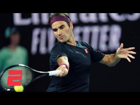 Roger Federer defeats Steve Johnson in straight sets in Round 1  2020 Australian Open Highlights