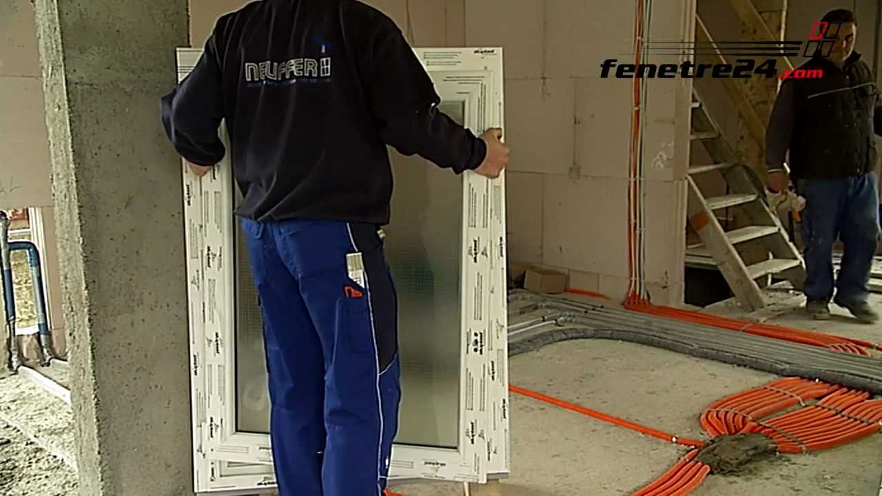 Mise En œuvre La Pose De Fenêtre Fenetre24com Tv Youtube