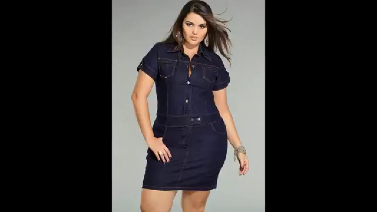Vestido jeans plus size como usar
