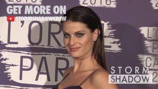 Isabeli Fontana and Lady Victoria Hervey at L Oreal Paris Blue Obsession Party Photocall