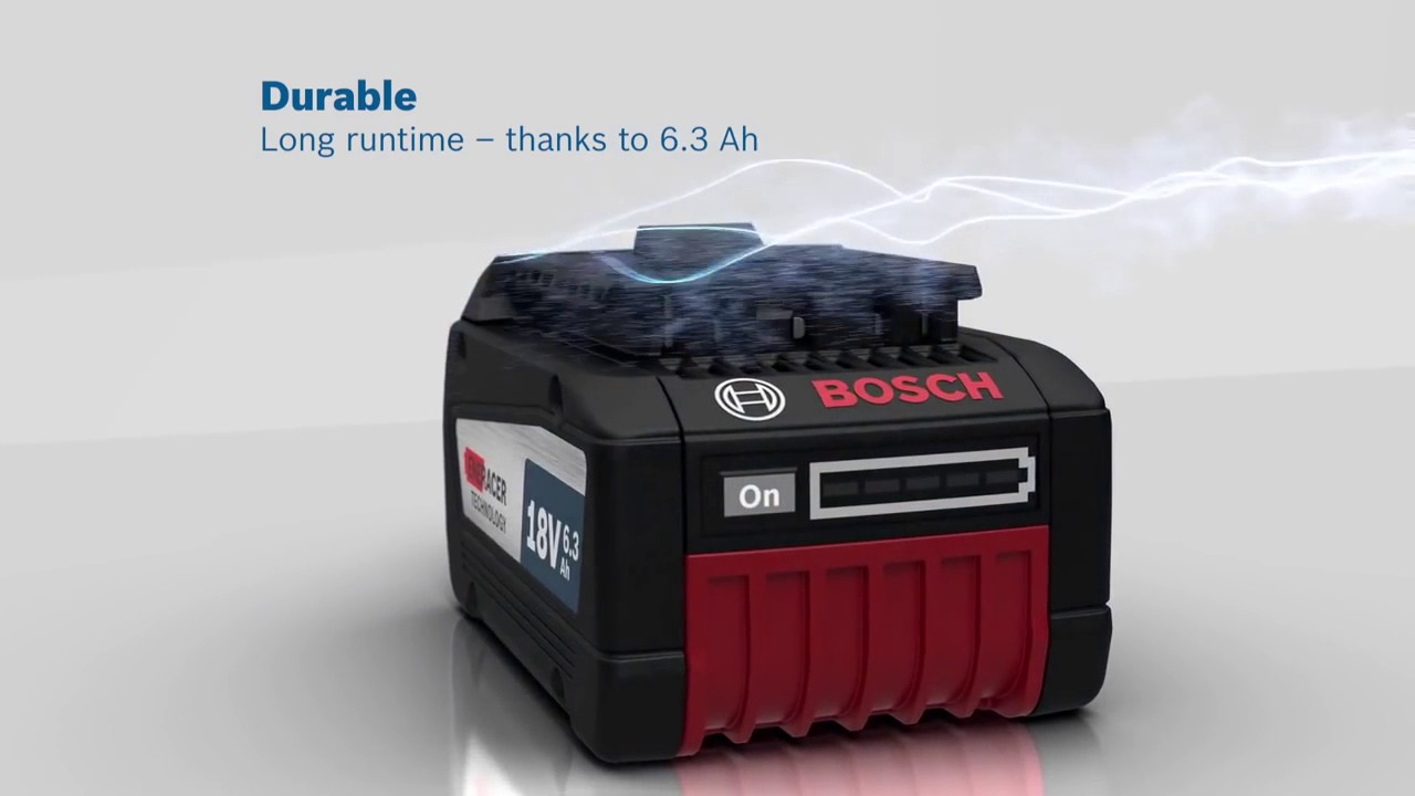 bosch 1600a00r1a gba 18v 6 3ah eneracer battery lithium ion youtube. Black Bedroom Furniture Sets. Home Design Ideas