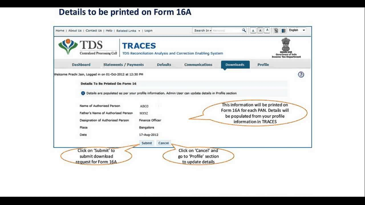 How to download form 16a tutorial youtube.