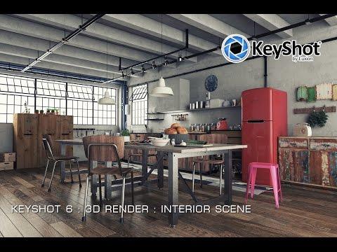 keyshot-6-interior-scene-:-shot-test-environment-,-lights-and-materials-:-scene-04-[no-sound]