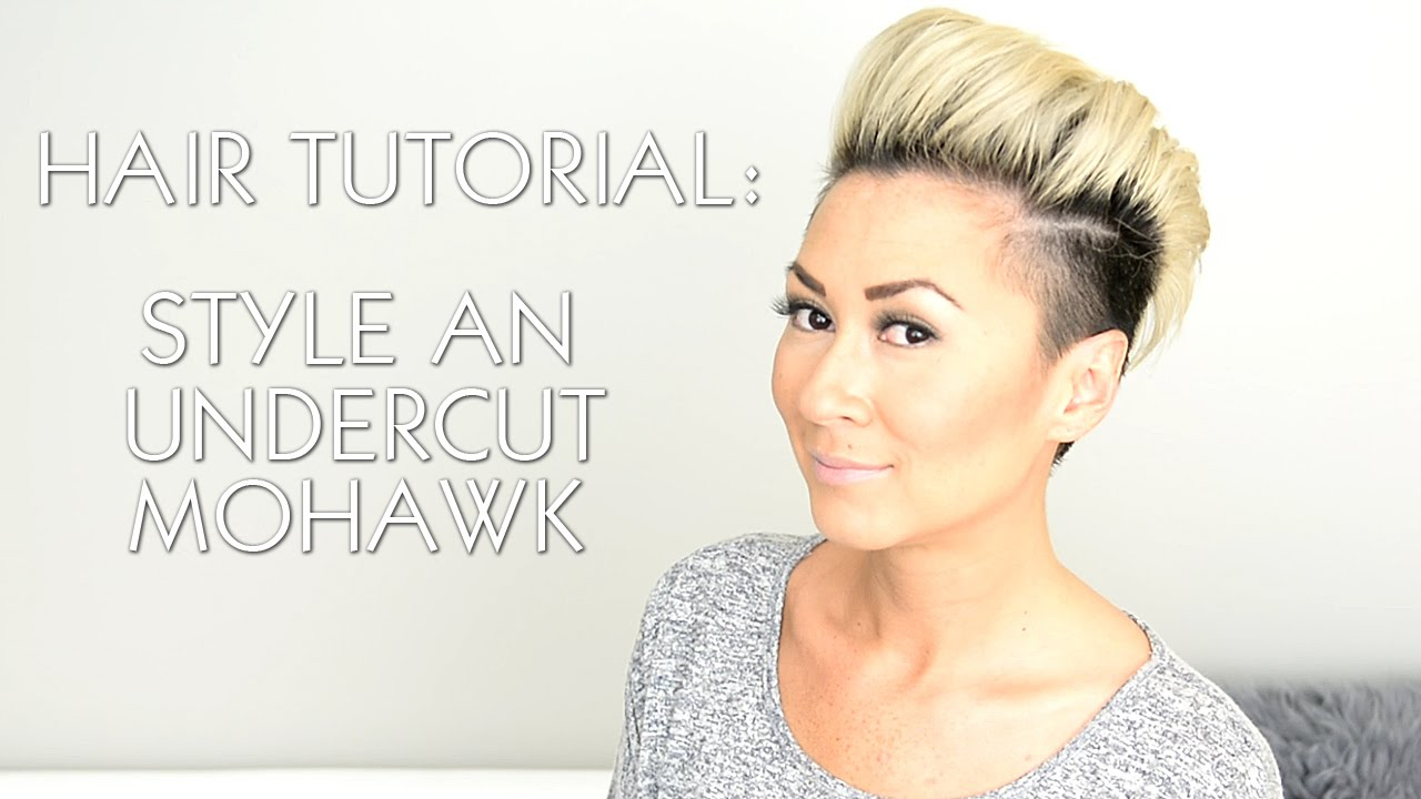 Hair Tutorial Style An Undercut Faux Hawk Rihanna Miley Cyrus You