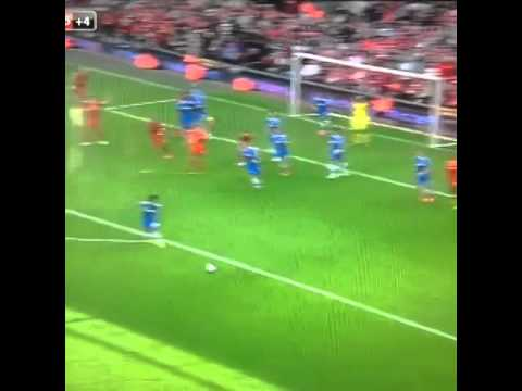 Awesome corner kick from Aspas vs Chelsea