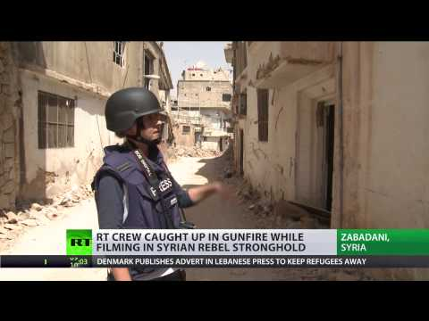 RT crew caught in crossfire in western Syria
