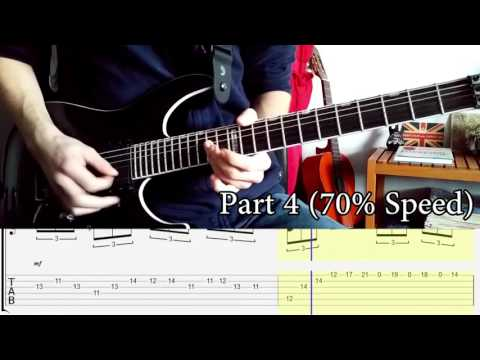 BABYMETAL - THE ONE All Solos Guitar LESSON w/ Tabs