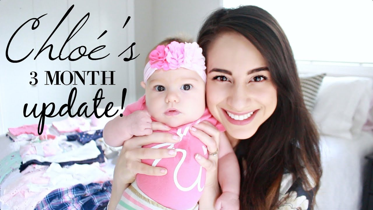 52ec61af2d62 BABY'S 3 MONTH UPDATE + BABY GIRL 3-6 MONTH CLOTHING HAUL!!! - YouTube