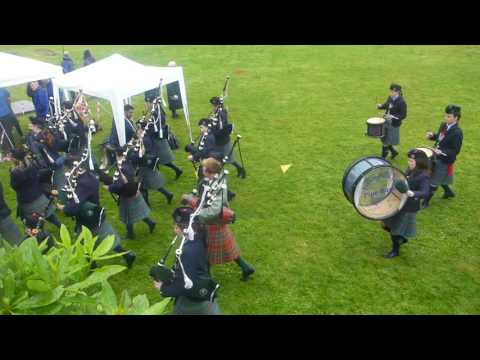 Isle of Skye pipeband at Highland Games, Portree 2015