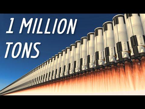 Building a 1 Million Ton Rocket   Stock/DLC KSP 1.11.2