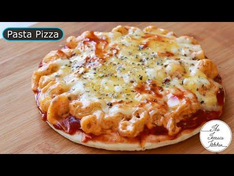 cheese-pasta-pizza-recipe-|-macaroni-pasta-on-pizza-~-the-terrace-kitchen