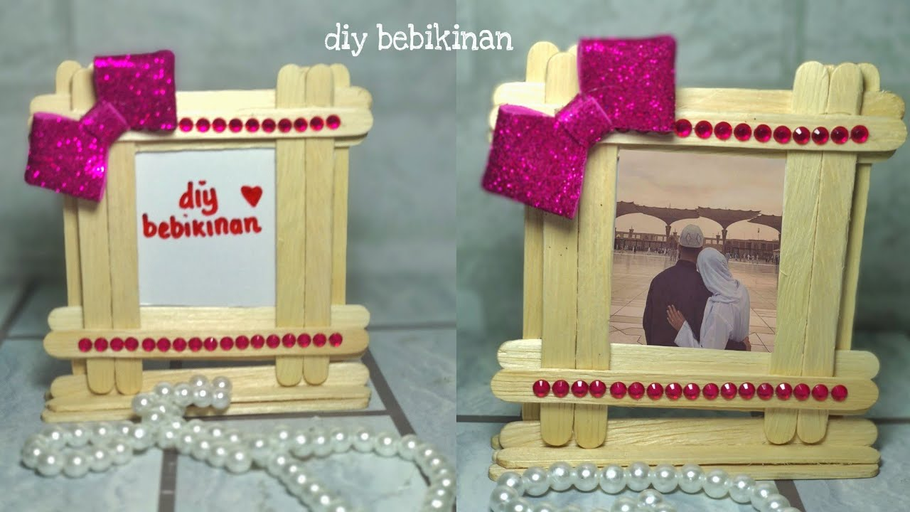 How To Create A Picture Frame With An Ice Cream Stick Youtube
