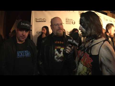 BRIAN SLAGEL and CHRIS SANTOS Interview, Revolver Music Awards 2016 Black Carpet | MetalSucks