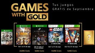 Games with Gold Xbox One y Xbox 360 | Septiembre 2018
