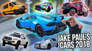 Jake Paul's Giant Car Collection 2018 *update*