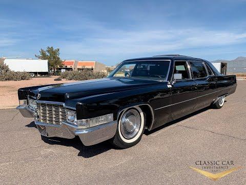 SOLD: 1969 Cadillac Series 75 Fleetwood Limo - Plasma TV - Bar - Stereo