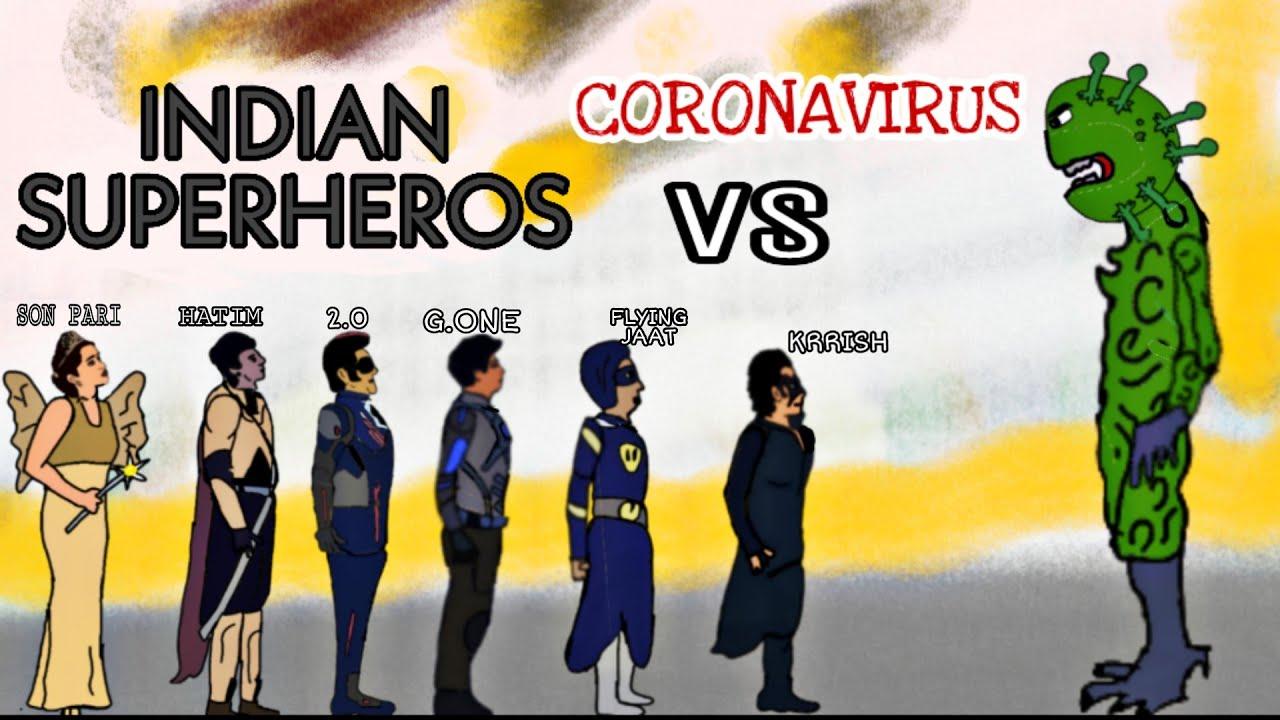 CORONAVIRUS VS INDIAN SUPERHERO PART-1 | 2D ANIMATION | BY ANIMATED VINES OF MK